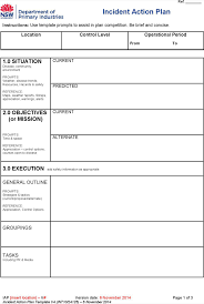 incident action plan template 16 example incident management plan