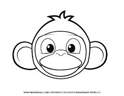 picture monkey face coloring page 63 on gallery coloring ideas