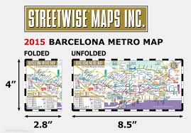 Metro Coverage Map by Streetwise Barcelona Metro Map Laminated Metro Map Of Barcelona