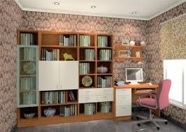 study room bookcases and wallpapers design ideas 3d house
