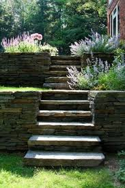 Retaining Wall Stairs Design Retaining Wall Stairs Natureal Contemporary Landscape By