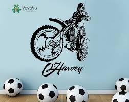 personalised name wall stickers for kids compare prices stickers motorbike wall online shopping buy low motocross kids personalised any name