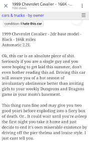 the most honest craigslist u0027car for sale u0027 ad youwill ever see