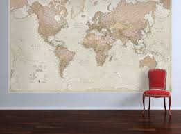 huge antique world map vintage elegant home decor home
