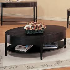 oval coffee table modern webster oval coffee table hayneedle