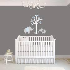 arbre déco chambre bébé deco chambre bebe gris turquoise famille et bébé