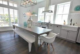 white and gray dining table gray dining table cottage kitchen lollygag beach house