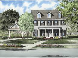 wedgerock georgian style home plan 055d 0668 house plans and more