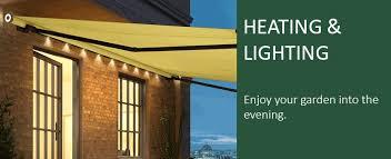 awning lighting u0026 patio heaters wall mounted or awning mounted