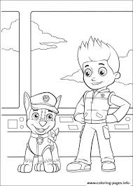 paw patrol chase ryder coloring pages printable