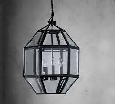 Indoor Lantern Chandelier Spencer Faceted Indoor Outdoor Lantern Pottery Barn