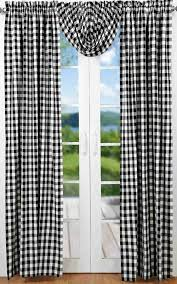 Black Check Curtains Buffalo Black Check Curtain Panels 84 In Allysons Place