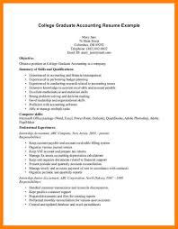 brilliant ideas of sample resume fresh graduate accounting student