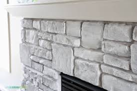 white washed stone fireplace life on virginia street