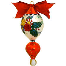 traditional glass ornament with a reflector knob