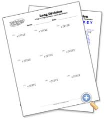 1 digit with 4 digit numbers long division with remainders