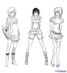 manga clothes female anime step 15 how to sketch anime clothes