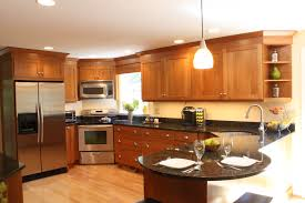 oak kitchen cabinets with stainless steel appliances cherry wood cabinet kitchen stainless steel appliances