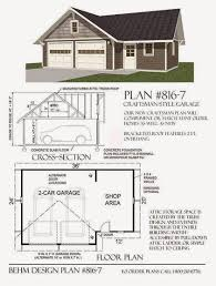 Auto Floor Plan Rates by 2 Car Attic Roof Garage With Shop Plans 864 5 By Behm Design