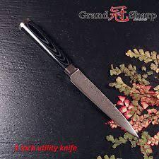 kitchen knives ebay grandsharp utility knife damascus japanese stainless steel vg10