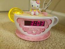 clock radio with night light hello kitty kt2055 tea cup digital alarm clock radio and night light