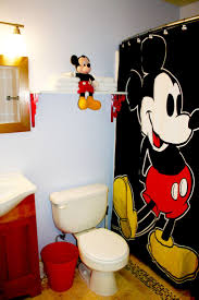 Mickey Mouse Bathroom Accessory Set Bathroom Appealing Mickey Mouse Shower Curtain For Cute Bathroom