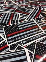 Free American Flag Stickers Thin Red Line American Flag Sticker Distressed American Flag