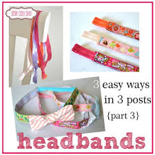 ribbon headbands easy tutorial by sewcanshe ribbons headbands