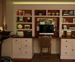 two color led lit built in bookshelf with desk 9 steps with