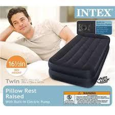 intex twin air mattress with builtin pump and pillow