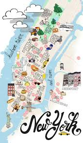 New York City Street Map by Manhattan Streets And Avenues Must See Places New York Top Tourist