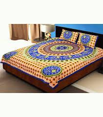 buy jaipurfabric blue border jaipuri rajasthani bandhani print