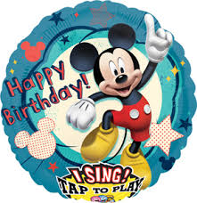 happy birthday singing happy birthday mickey mouse singing balloon 28 in p e r sales
