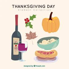 original thanksgiving day collection vector free