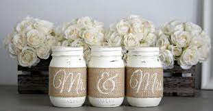 mr mrs wedding table decorations rustic wedding engagement bridal shower decorations jarful house