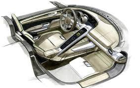 porsche 918 interior porsche plug in hybrid 918 spyder sketch interior eurocar news