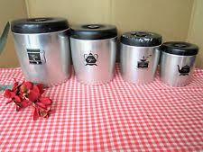 pink kitchen canister set west bend canister ebay