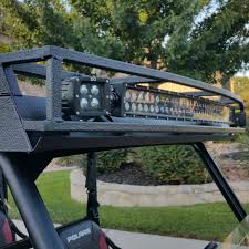 Led Curved Light Bar by Polaris Ranger 900 Metal Roof Crew Steel Top With Rack