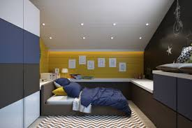 bedroom amenajarea unei mansarde mici small attic room design