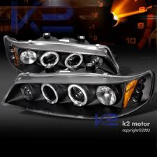 97 honda accord lights 94 97 honda accord jdm dual halo led projector headlights black