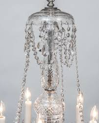 pair of adam style ten light cut crystal chandeliers bohemia