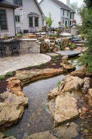 Patio Pond by Best 25 Backyard Stream Ideas On Pinterest Garden Stream Pond