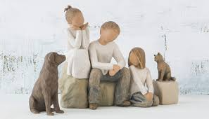 family sculpture family figurines willow tree