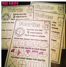 miss giraffe u0027s class fractions in first grade