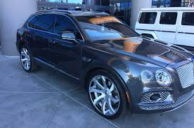 bentley custom 2017 bentley bentayga passenger side view lowrider