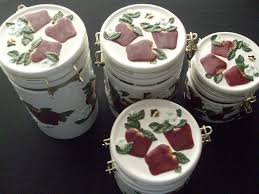 decorative kitchen canisters sets kitchen accessories apple ceramic decorative kitchen canisters