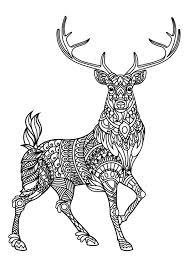 zentangle deer etsy coloring pages deer free resume printable