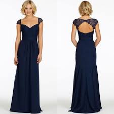 navy blue bridesmaids dresses open back navy blue lace bridesmaid dresses sweetheart
