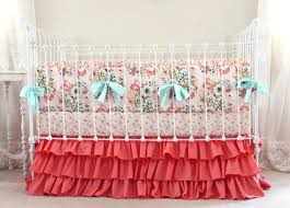 Pink Floral Crib Bedding Blush Pink And Coral Crib Bedding Pink Gold Nursery Bedding