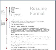 Format Resume On Word Sample Of A Resume Template Download Resume Format Resume